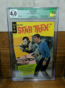 STAR TREK #2 Gold Key CGC Qualified 4.0 OW pages missing centerfold photo back
