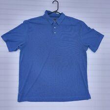 Men's PGA Tour Size XL Polo Golf Shirt Casual Work Clothes Blue