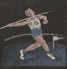 New listing Vintage/antique early 1900s woven silk-use in crazy quilt- Sporting: Track/Field
