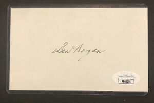 Ben Hogan Pro Golfer GOAT Signed 3x5 Index Card JSA Certified Autograph