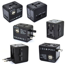 World International Universal Travel USB Charger AC Adapter Power Outlet