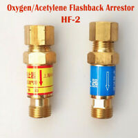 Flashback arrestors oxygen acetylene propane fuel gas non resettable welding
