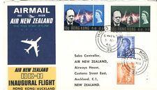 Hong Kong 1966 FFC First Flight vol Auckland New Zealand Nouvelle Zelande