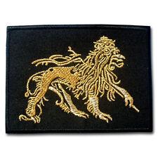 Gold Lion Of Judah Patch Iron On Bob Marley Embroidered Hippie Rastafari Rasta