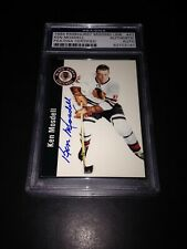Ken Mosdell Signed 1994-95 Parkhurst Missing Link Card Blackhawks PSA #83703141