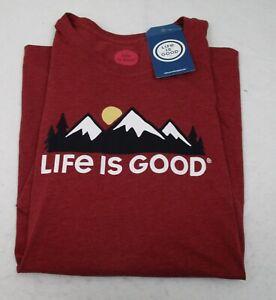 Men's Life is Good T Shirt Mountains  XXL