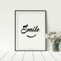 Smile Poster Motivational Prints For Home Fashionable Artwork Cool Prints Framed