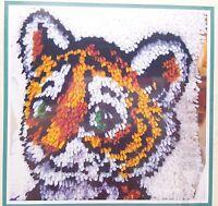 Latch Hook Tiger Cub Kit 12x12 Pillow New WonderArt P460