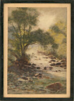 Goldsmith - Signed & Framed Early 20th Century Watercolour, Leaft River Bank