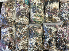 Wholesale Lot 800 grams Assorted Genuine White & Dyed Pearls & Gemstones