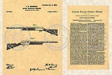 United States Patent for a John BROWNING AUTO 5 SHOTGUN Issued in 1900 PM#894