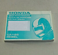 Bedienungsanleitung / Fahrer Handbuch Honda CA 125 Rebel - Ausgabe 1994