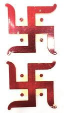 3D 2x Traditional, Large & Red Swastik Plastic Adhesive Hindu Religious Sticker
