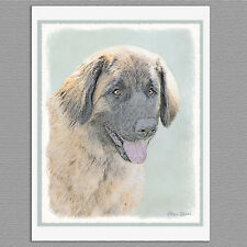 6 Leonberger Dog Blank Note Greeting Cards