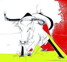 Tableau - Peinture -Taureau - corrida - Toro - Florence Poiret