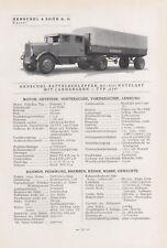 KÖLN-DEUTZ/KASSEL, Typentafel 1935, Humboldt-Deutzmotoren AG Henschel & Sohn AG