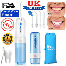 Rechargeable Dental Oral Irrigator Water Flosser Teeth Cleaner with 5 Jet Tips