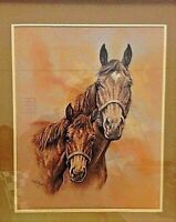 "Vintage Art Print Horse ""THE MATRIARCH"" Racehorse by KELLY STEVENS  1980"