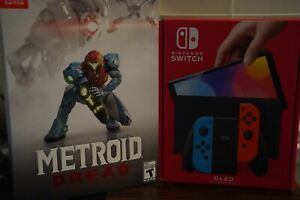 Nintendo Switch OLED Black Joy-Con With Metroid Dread Special Edition Bundle