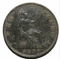1879 United Kingdom (UK) One 1 Penny - Victoria 2nd portrait - Lot 627