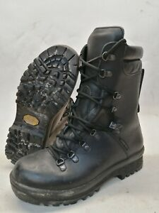 British Army Gore-Tex Cold Wet Weather Boots Black Leather Combat Winter