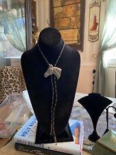 Mens Fashionable Silvertone Bolo Tie Vintage 1995 Signed Ege Horse Design