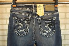 NEW SILVER Suki Capri Jeans Womens sz 27 W x 22.5 L Cropped NWT Distressed Dark