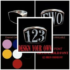 Stainless 3 or 4 Letter or number Ring Any combination custom size handmade