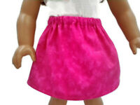 """Skirt fits American Girl dolls 18"""" Doll Clothes Variegated Hot Pink color"""