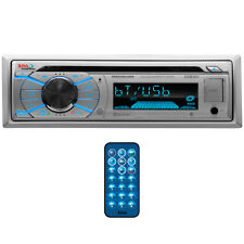 Boss Marine Single Din Receiver CD/MP3/USB/SD Front Aux RemoteSilver MR508UABS