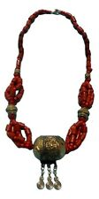Moroccan Coral Necklace Handmade African Berber