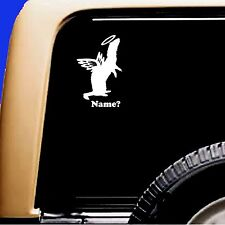 Ferret Memorial Angel Decal Pet Car Sticker RV Truck Weasel UP