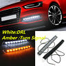 9LED Car Auto DRL Light Daytime Turn Signal White Yellow LED Lamp