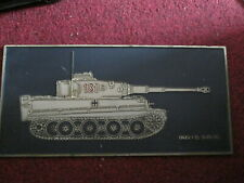 TIGER I (E) SK.KFZ 181 TANK PLAQUE IDEAL DISPLAY ARMY COLLECTABLE