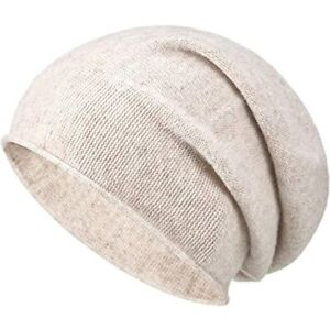 Syhood Cashmere Beanie Hat Women Winter Knitted Slouchy Oversized Warm Skull Cap