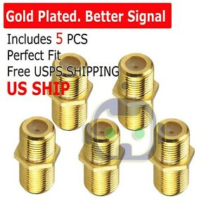 5PCS F Type Coax Coaxial Cable Coupler Female Jack Adapter Connector US SHIP