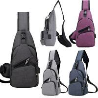 Outdoor Sport Chest Bag Crossbody Shoulder Bag Men Women Backpack Messenger Pack