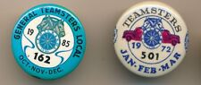1972 and 1985 Teamsters Locals 501 and 162 Union Pinback Buttons