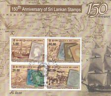 Sri Lanka 2007 150th Stamp Anniversary M/Sheet Used (Sri Lankan Cancellation)