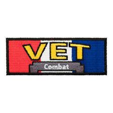 Combat Veteran RWB Patch, Military Veteran Patches