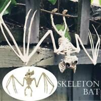 Creepy Skeleton Bat Bones Halloween Decor Scene Home Party Scary Decor Props