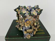 """New ListingBoyds Bears """"Clementine Garden Romance"""" Candle Holder 2000 #27757 1E"""