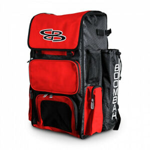 (Black/Red) - Boombah Superpack Baseball / Softball Bat Backpack - Holds up to