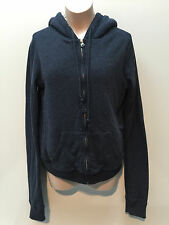 Abercrombie & Fitch Teen Women Hooded Cotton Blue Zip-up Fur Lined Jacket  XS