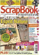 SCRAPBOOK INSPIRATIONS N°04 ESPRIT NATURE / FAUX BOUTON / ETIQUETTES / ECOLE