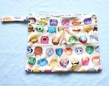 Wet Dry Travel Bag Clutch,Creams,Cloth Menstrual Pad, Diaper Nappy Bag Tsum Tsum