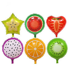 Set of 6 Foil Tutti Fruity multi colour balloons birthday party fruit, kiwifruit