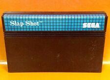 Slap Shot for Sega Master System. Very Rare Blue Label US Version. Tested Hockey
