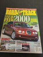 ROAD & TRACK CAR MAGAZINE 1998 DECEMBER JAGUAR S-TYPE MASERATI 3200 HONDA S2000