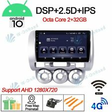 """9""""Android 10.0 Car GPS  Navi Stereo Radio for Honda Fit jazz DSP 2004-07 WIFI BT"""